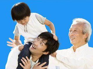 quan hệ theo dòng nội, ông cháu, chú cháu, bác cháu